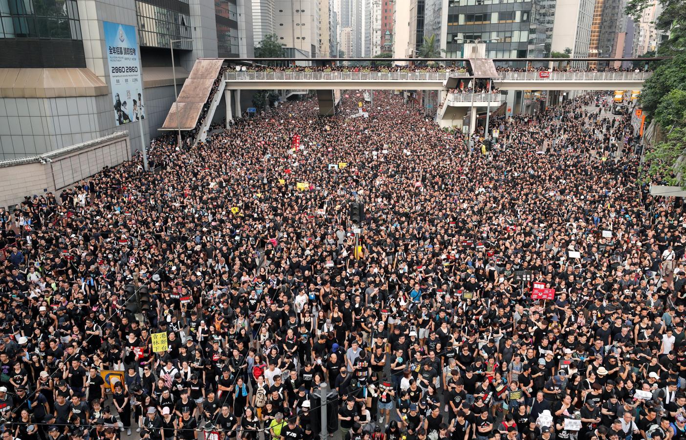 Una nueva ley, a punto de colapsar Hong Kong.