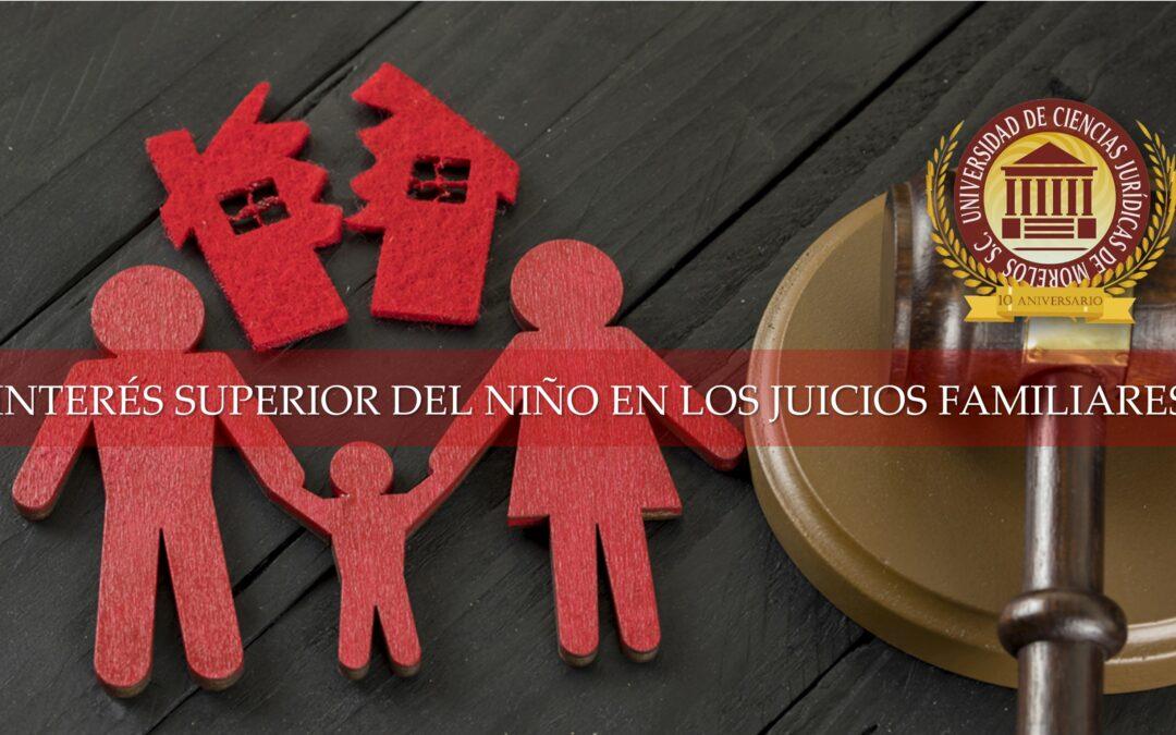 INTERÉS SUPERIOR DEL NIÑO EN LOS JUICIOS FAMILIARES